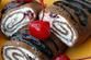 Шоколадные рулетики с белковым крем...
